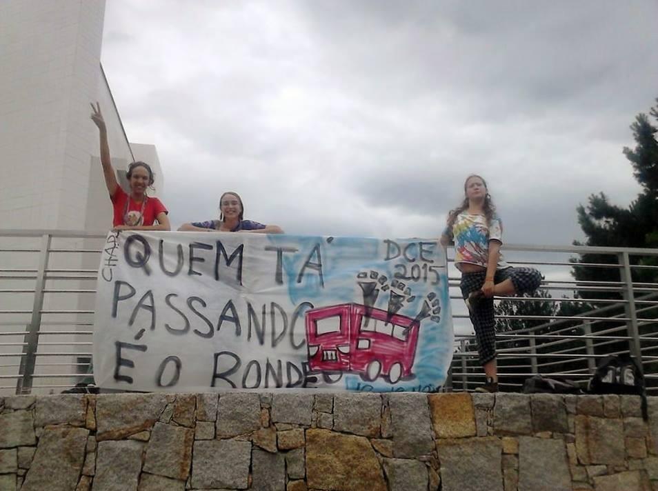 Integrantes da chapa fazem campanha no campus do Jardim Botânico (Foto: Divulgação)