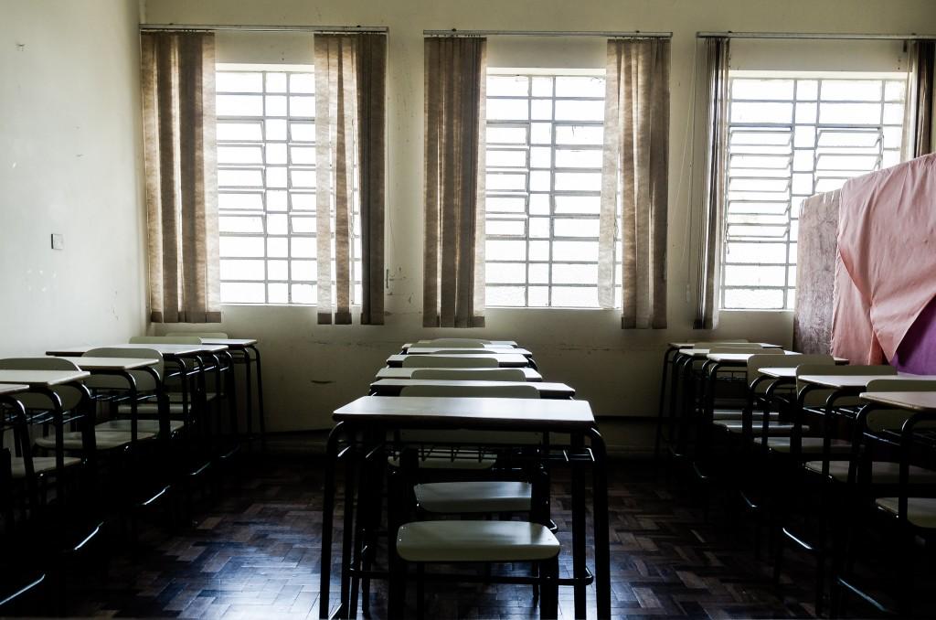 Sala de aula da Penitenciária Feminina do Paraná. O estado já foi o primeiro em número de presos e presas estudando. Hoje em dia, situação é bem diferente / Foto: Rafael Andrade