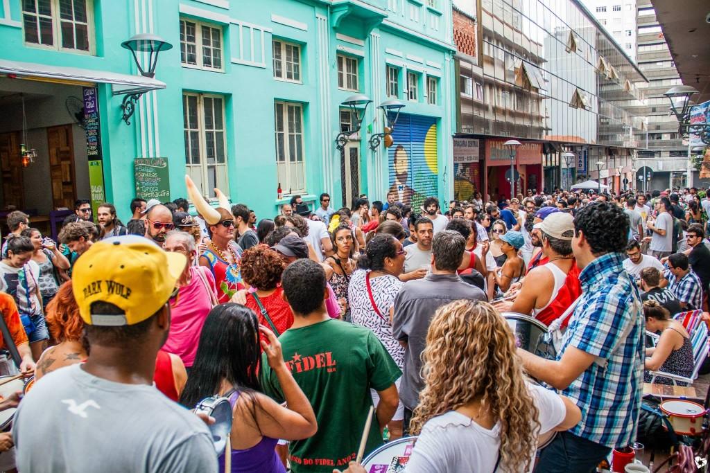 10afinados & daí? comandou o Berro de Carnaval no dia 17 de janeiro, na rua São Francisco (Foto: Dayana Luiza)