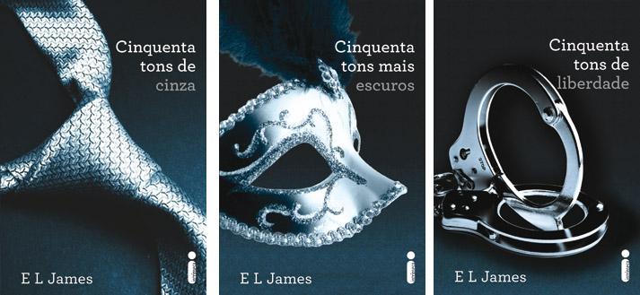 Os três livros da série 50 Tons de Cinza (Foto: Reprodução)