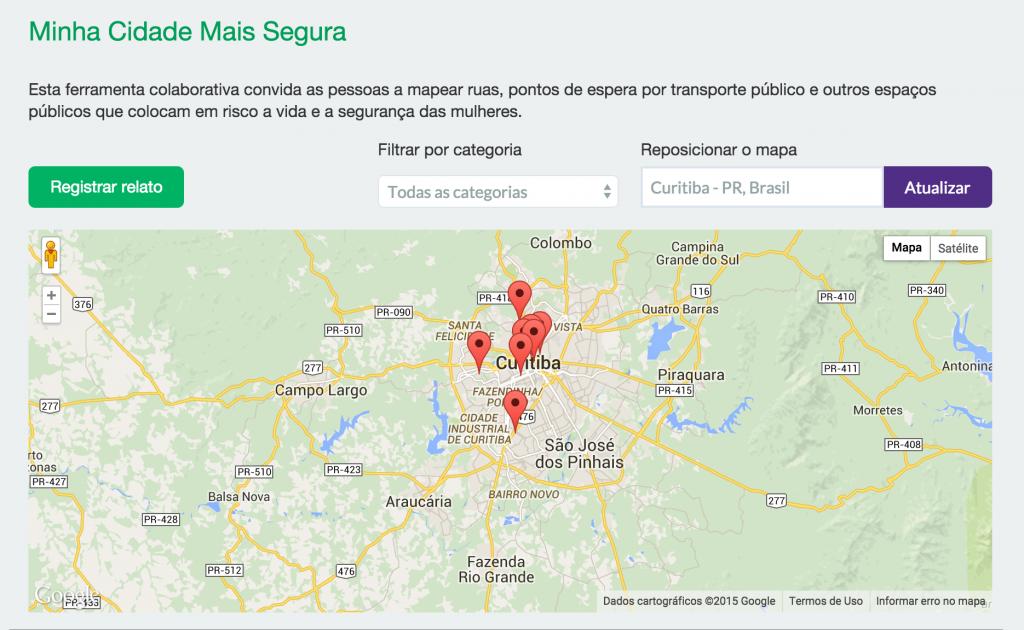 Mapa colaborativo pode ser acessado tanto pelo aplicativo quanto pelo site clique180.org.br (Foto: Reprodução)