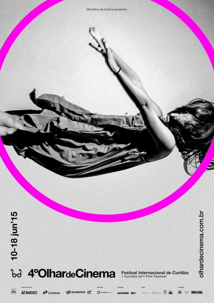 O cartaz de divulgação do Olhar de Cinema traduz a proposta do festival em 2015: leveza. (Créditos: Divulgação)