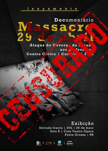 """Cartaz de divulgação do vídeo com a marca de """"censurado"""" (Foto: Divulgação)"""