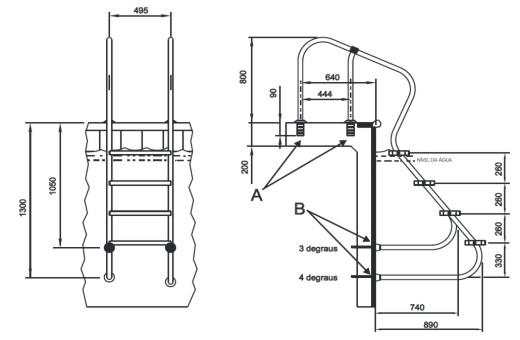 O desenho técnico industrial é um exemplo de ideia que deve ser patenteada. No exemplo é uma escada desenvolvida para pessoas com necessidades especiais.  [Foto: divulgação]