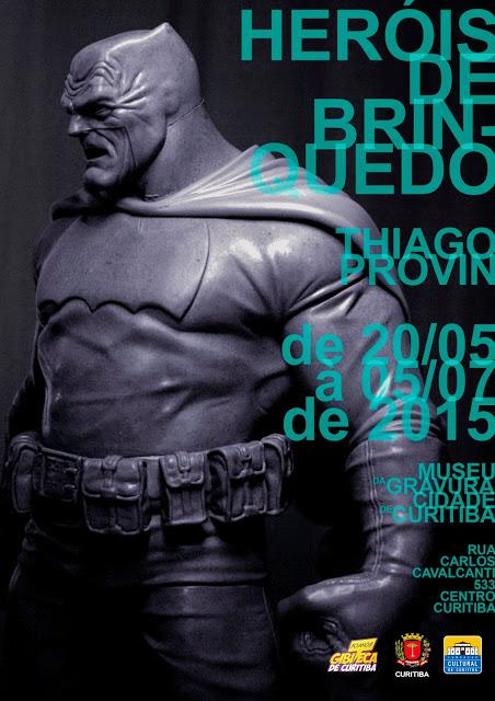 Em cartaz uma das obras mais elogiadas do artista, o Batman versão Frank Miller. (Foto:Vivaldo Vieira Neto )