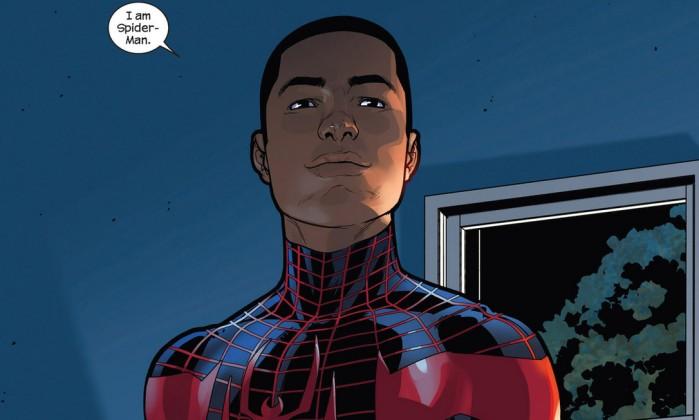 Miles Morales é o primeiro homem-aranha negro e existem expectativas de que um dia estreie nos cinemas (Foto: Reprodução)